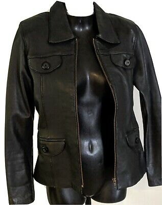 AU15 • Buy Black Leather Jacket 8 In Good Condition . Soft Leather Lined .