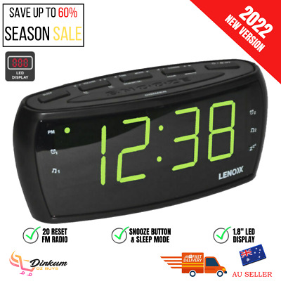 AU24.11 • Buy CR85 Digital LED Alarm Clock AM FM Radio Aux In Large Big Numbers Sight Impaired
