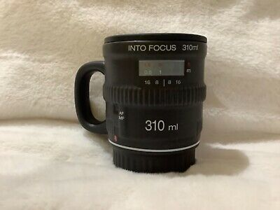 Ceramic Camera Lens Mug Cup By Bitten Used Once With Rubber Cover Cap • 3.99£