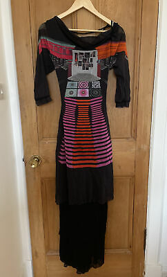 AU179.98 • Buy Save The Queen Black Long Patterned Womens Dress S SMALL