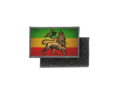 Patch Printed Badge Vintage Flag Ethiopia Lion Rasta • 3.98£