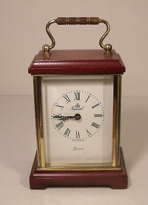 Imperial Quartz Brass And Wood Carriage Clock (Working) • 19.99£