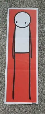 STIK Rare Art Print From Big Issue 2013. Red Version Signed By Stik • 950£