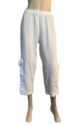 AU29.50 • Buy 🌻* J Generation (aus) Size 10 White Linen Crop Pants Like
