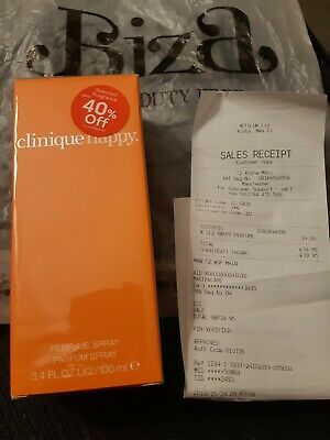 Clinique Happy 100ml Perfume Spray New. Sealed. With Proof Of Duty Free Purchase • 29.99£