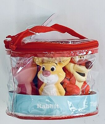 £9.76 • Buy Disney Baby Squirt Toys Bath Tub Winnie The Pooh 5 Pack With Bag New Gift Set
