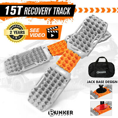 AU179.95 • Buy BUNKER INDUST Pair Recovery Tracks Sand Track 15T 4WD Car Accessories 4x4 Grey