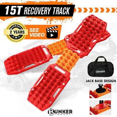 AU199.95 • Buy BUNKER INDUST 4x Recovery Tracks Sand Track Red 15T 4WD Car Accessories 4x4