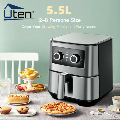 View Details 5.5L Air Fryer Low Fat Healthy Cooker Oven Food Frying 1700W Kitchen Oil Free XL • 59.99£