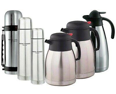 £16.95 • Buy Large Thermos Flask Bottle Vacuum Jug Isolating Hot Cold Tea Coffee Soup Travel