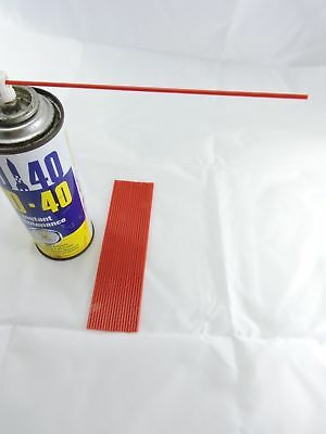 $ CDN13.56 • Buy  15 X WD40 Little Red Straws 6   Tubes For Can Spray Nozzle Tip Rust Oil Nozzle