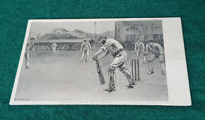 Antique Cricket With W G Grace Artist Drawn S T Dadd Postcard  • 1.99£