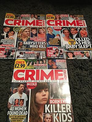 Crime Monthly Magazines All Read Once Issue 19 20 21 • 1.50£