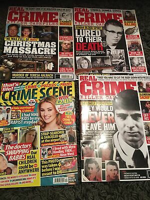 3 X Real Crime Killer Case Magazines And 2 Crime Scene All Read Once  • 1.75£