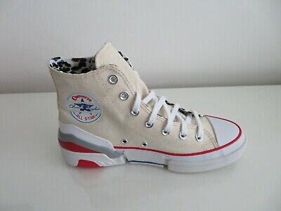 New!!! Converse Cpx70 Hi Tops Cream/red With Leopard Print Lining Size 6 Eur 39 • 30£