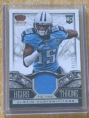 $1.59 • Buy Tennessee Titans Justin Hunter Rookie Patch /299 RC 2013 Panini Crown Royale