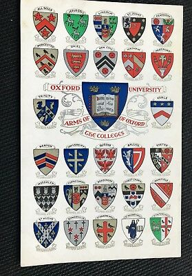Arms Of Oxford Colleges Oxford Oxfordshire Post Card  • 2.60£