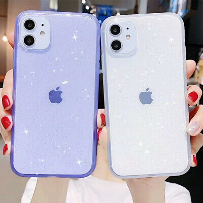 AU9.98 • Buy For IPhone X 11 Pro Max SE 2 XR 8 7 Glitter Clear Case Silicone Shockproof Cover