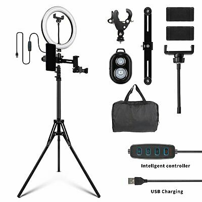 AU27.80 • Buy 10  LED Ring Light Dimmable With 2m Selfie Tripod + Bluetooth Wireless Remote