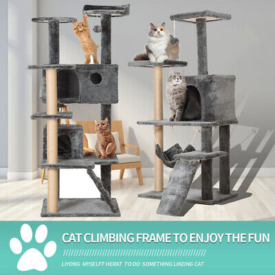 2021 Large Cat Tree Tower Cat Scratch Posts Climbing Activity Centre Furniture • 18.66£