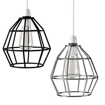 £9.99 • Buy Industrial Ceiling Pendant Light Shade Steam Punk Basket Open Cage Home Lighting