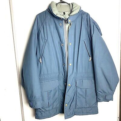 $104.95 • Buy LL Bean Maine Warden's Parka Coat Mens Large Hooded Gortex Thinsulate Blue