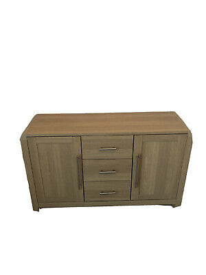 Next Large Sideboard. 3 Drawers 2 Cupboards Light Oak Effect Good Condition • 31£