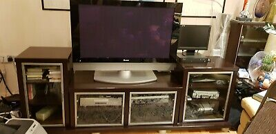 Brown AV/TV Cabinet With Side Cabinets And Base • 120£
