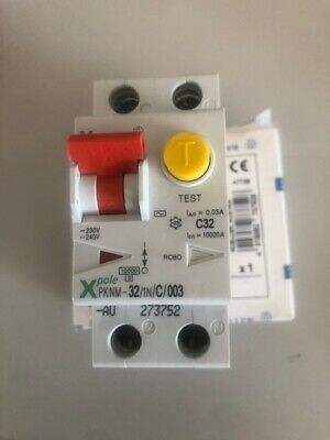 AU19.80 • Buy MOELLER RCBO COMBINED RCD/MCB DEVICE-SAFETY SWITCH 32A 1 Electrical Switchboard