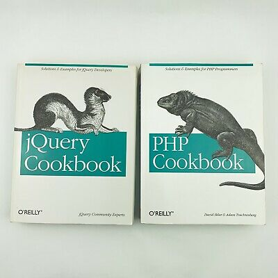 £10.37 • Buy Lot Of 2 Computer Programming Books - JQuery Cookbook & PHP Cookbook O'Reilly PB