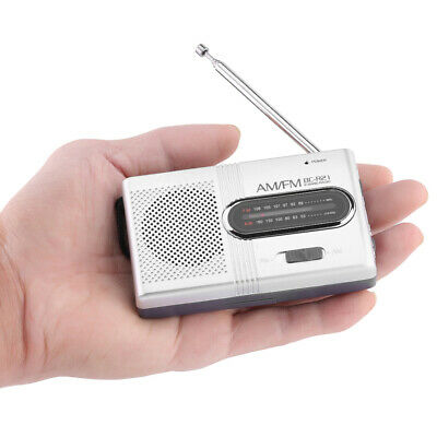 Battery Operated Mini Pocket AM FM Radio Built-in Speaker Telescopic Antenna UK • 7.59£