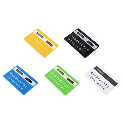Mini Ultra Slim Credit Card Sized Solar Powered Pocket 8-Digit Calculator UP • 3.49£