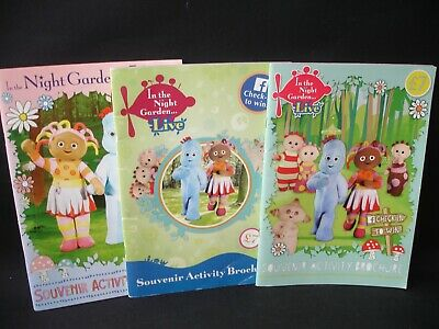 In The Night Garden 3 X Souvenir Books Brochures From The Live Show Collectable • 19.75£
