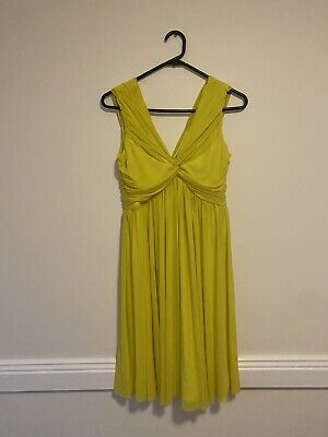 AU5 • Buy Asos Maternity Yellow Dress - Size 8 - Excellent Condition, Worn Once