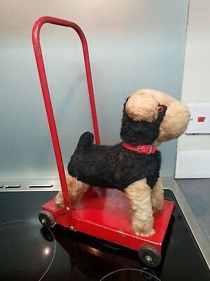 Vintage Retro 1950s Terrier Push Along Dog Walker Toy On Wheels  • 23£