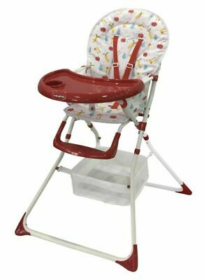 High Chair Fruit Portable Baby Infant Child Folding Feeding Seat Red • 33.95£