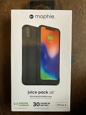 Mophie Juice Pack Air Phone Charging Case (Black) For Apple IPhone X Brand New • 15£
