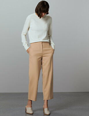 £12.99 • Buy BNWT M&S Autograph Tailored Straight Leg Trousers Beige Office Business   (ST26)