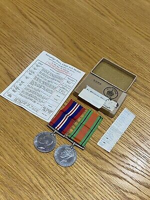 Original OHMS Box For WW2 Campaign Stars, Clasps & War Defence Medals • 40£