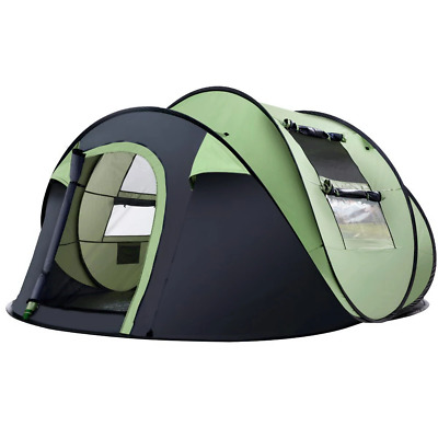 AU135.49 • Buy Weisshorn Instant Camping Tent 4-5 Person Pop Up Tents Family Hiking Dome