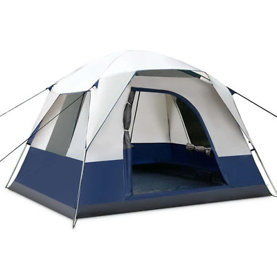 AU102.86 • Buy Weisshorn Family Camping Tent 4 Person Hiking Beach Tents Canvas Ripstop