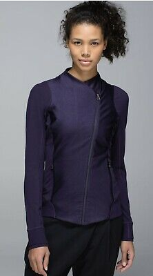 $ CDN69.99 • Buy Lululemon EMERGE RENEWED JACKET Black Grape Purple Sz 10