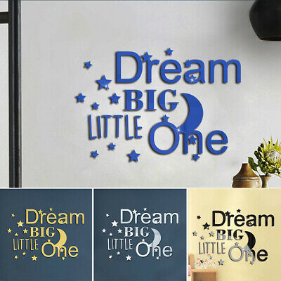 Mirror Stickers Acrylic Wall Dining Room English Letters Self-adhesive • 8.92£