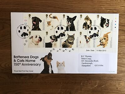 GB FDC 2010 Battersea Dogs And Cats Home • 1£