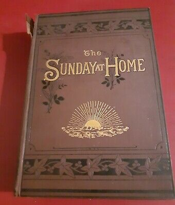 THE SUNDAY AT HOME 1884 Victorian Bound Christian Magazine Bible Studies Sermons • 14.99£