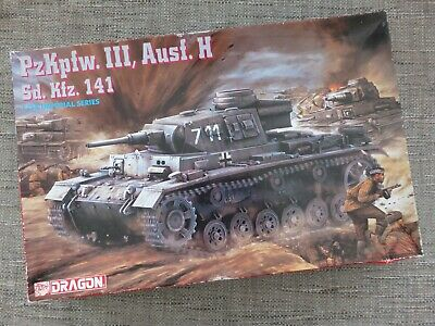 Dragon 9029 - German Pzkpfw. Iii Ausf. H Sd.kfz. 141 - Rare 1/35 Model Kit • 55£