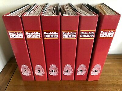 Real Life Crimes Magazines 1-92 Copies In 6 Binders - Great Condition • 50£