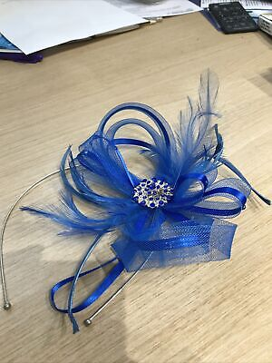 Blue Fascinator With Stones And Feathers  • 2£