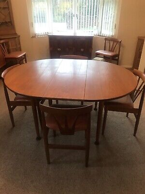 Oval /Circular Dining Table And Matching 6 Chairs Believed G Plan • 46£