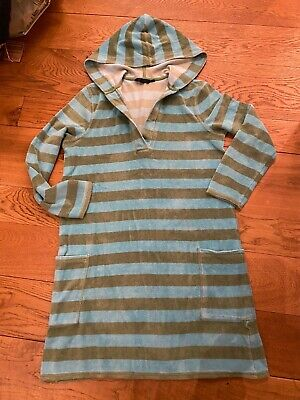 Ladies Boden Jade Striped Overhead Towelling Beach Dress Cover Size M Approx 10 • 12£